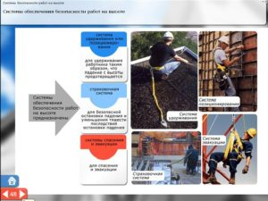 Безопасные методы и приемы работ на высоте
